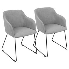 Lumisource Set Of 2 Daniella Contemporary Chairs Bar Furniture, Living Furniture, Furniture Deals, Furniture Outlet, Online Furniture, Contemporary Armchair, Contemporary Dining Chairs, Contemporary Style, Dining Chair Set