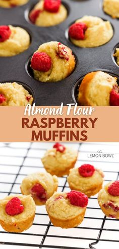 These gluten-free almond flour raspberry muffins are light, nutty and super moist. Naturally low carb and high in protein, these muffins are the perfect make-ahead healthy breakfast or snack.