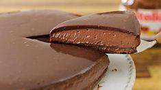 Cheesecake Nutella χωρίς ψήσιμο - Εύκολο και πολύ νόστιμο No Bake Nutella Cheesecake, Cheesecake Recipes, Dessert Recipes, Nutella Cake, Nutella Pizza, Homemade Nutella Recipes, Nutella Recipes No Bake, Baked Strawberries, Gastronomia