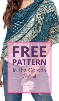 In The Garden Shawl - knotions In The Garden Shawl free crochet pattern - knotions<br> Free crochet pattern for a half-circle shawl. Using two colors, it will quickly work up with a pretty eyelet main section and a fun and frilly border. Crochet Shawl Free, Gilet Crochet, Crochet Shawls And Wraps, Crochet Scarves, Crochet Clothes, Crochet Lace, Prayer Shawl Crochet Pattern, Prayer Shawl Patterns, Crochet Triangle Scarf