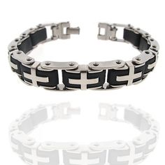 Amazon.com: Amazing Tribal Style Very Rare and Amazing Design. Love, Peace and Strength Meanning Mens 8.5 Inch Bracelet High Quality Stainless Steel: Jewelry