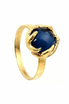 House of Harlow 1960 Antler Button Ring in Yellow Gold    $59.00