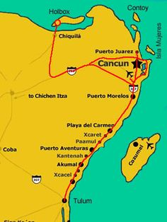 Map Holbox Island - how to get there