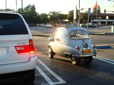 1958 BMW Isetta. Lol David and his family had one of these when he was a kid. Someone paid his Dad with it lol.