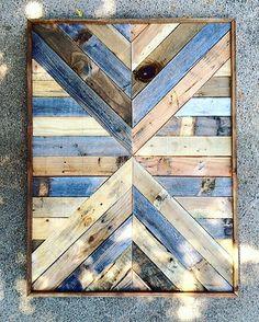 Art bois de récupération  de récupération  bois par DallasFarmhouse