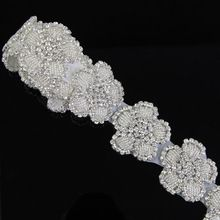 1 Yard 91 cm Silver Lace Applique Costume Decor Trimming Embroidery Hot Fix Sew DIY Craft High Quality(China (Mainland))
