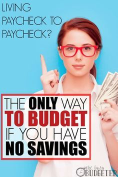 The Only Way to Budget if You Have No Savings. I'm so glad I found this! I had no idea there was a free option better than the paid budgeting programs. Perfect timing since we just found out the exact amount of debt we have. We really need this!