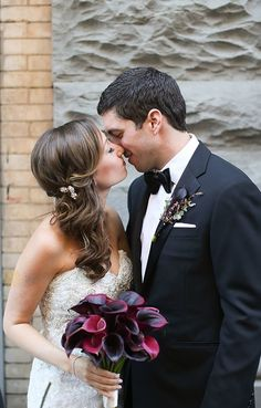 They mixed it up with a creative cocktail-style reception. Calla Lily Wedding, Wedding Bouquets, Wedding Dresses, Wedding Bride, Our Wedding, Wedding Ideas, Eve Of Milady, Classic Tuxedo, Chuppah