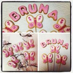 Biscoitos decorados - Butterflies cookies