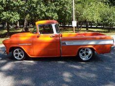 AutoTrader Classics - 1955 Chevrolet 3100 Orange 8 Cylinder Automatic | Classic Trucks | Calabasas, CA