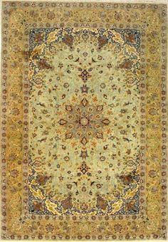 Nada mais étnico do que um tapete persa.