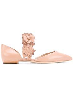 Tory Burch floral strap ballerinas