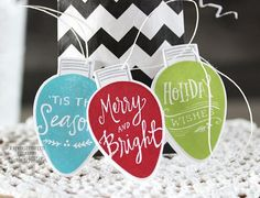 Merry & Bright Tag Trio by Laurie Schmidlin