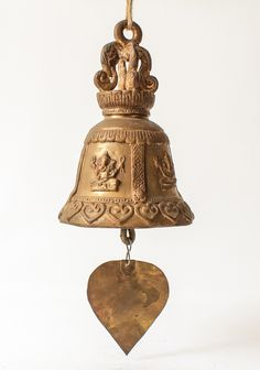 Vintage Buddhist Temple Bell From Thailand. Spiritual blessings and protection with a calming chime. Perfect for yoga, meditation and zen by SiamSawadee on Etsy, $89.99
