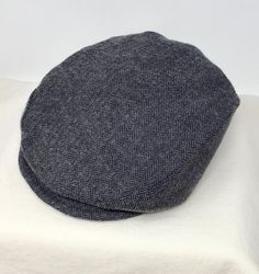 Grey Herringbone Newsboy Hat for infants, toddlers to teens.  Perfect for any special event.