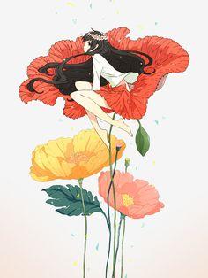 Kai Fine Art is an art website, shows painting and illustration works all over the world. Art And Illustration, Fantasy Kunst, Fantasy Art, Stock Design, Anime Kunst, Anime Artwork, Anime Comics, Anime Style, Manga Art