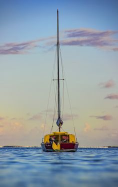 Lil' Ship. - Shot at dusk from Pointe D'esny Beach, Mauritius this summer.