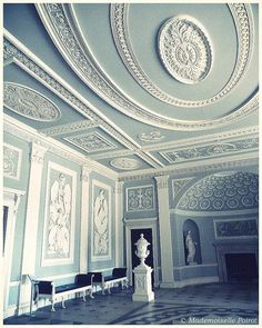 Osterley House.  If I had a ceiling like this in my bedroom, I could go to bed and dream that I was in heaven.