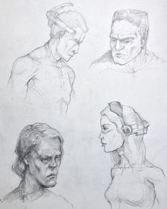 some heads #sketches #drawing