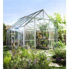 HALLS HALLS MAGNUM 108 ALU M/ 3 MM HÆRDET70918 se mere: http://www.xl-byg.dk/produkter/haven/drivhuse/ #xlbyg #gørdetordentligt #gørdetselv #drivhuse #greenhouse #have #inspiration #garden