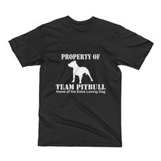Property of Team Pitbull Dog Short Sleeve T-Shirt
