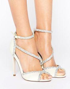 1612bcb5352826 Choosing perfect bridal shoes  bride  wedding   heels White Wedding Shoes