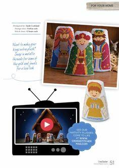 Cross Stitcher 285 - Away in a Manger Christmas Nativity, Christmas Cross, Christmas Ornaments, Cross Stitch Embroidery, Cross Stitch Patterns, Nativity Advent Calendar, Stitch Design, Needlework, Make It Yourself