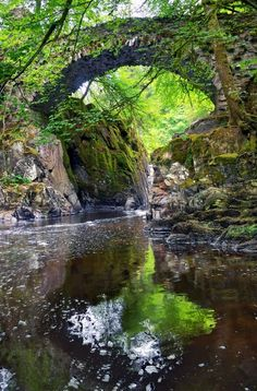Ancient Stone bridge at The Hermitage ~ a national trust for Scotland protected site in Dunkeld, Scotland