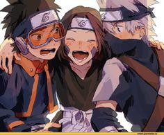 ナルト - - - - Kakashi Hatake x Rin Nohara x Obito Uchiha Naruto Shippuden Sasuke, Naruto Kakashi, Anime Naruto, Naruto Teams, Naruto Cute, Manga Anime, Team 10 Naruto, Wallpapers Naruto, Naruto Wallpaper