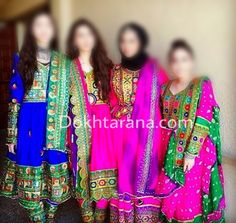 #afghan #style #dresses #pink #green #blue