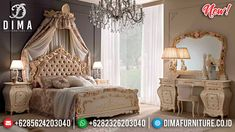 Wonderful Set Tempat Tidur Mewah Ukiran Luxury Classic Great Solid Wood TTJ-0957