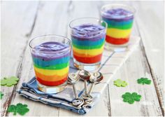 This colorful dessert looks and tastes like a rainbow! (Which, we hear, tastes a lot like vanilla pudding.)