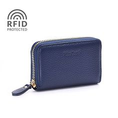 Credit Card Wallet, RFID Genuine Leather Credit Card Holder for Women Minicastle ** Review more details @