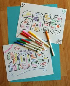 2016 Word Art Printable for Kids