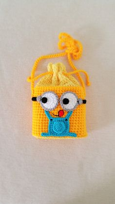 Minion Handmade crochet bag  Birthday gift by Solutions2511 / adorable!/ FINISHED PRODUCT for sale