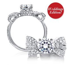 A. Jaffe Diamond Bow Engagement Ring