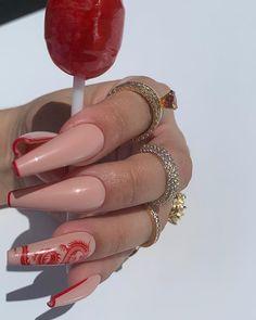 Summer Acrylic Nails, Best Acrylic Nails, Acrylic Nail Designs, Spring Nails, Summer Nails, Long Nail Designs, Art Designs, Nail Swag, Dragon Nails