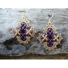 Dazzling Diamond Earring Pattern - Bead Patterns by Michelle Skobel