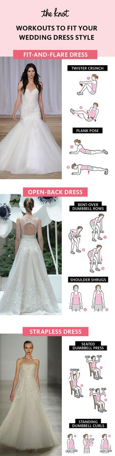 6 Fitness Workouts to Fit Your Wedding Dress Style |