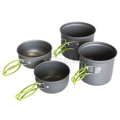 Outdoor Camp Hiking Cookware Backpacking Cooking Picnic Bowl Pan Set