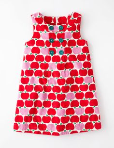 I've spotted this @BodenClothing Button Pinafore Dress Jam Geo Apples