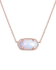 Kendra Scott Darling Elisa Pendant Necklace in White Kyoceral Opal & Rose Gold | Jewelry & Watches, Fine Jewelry, Fine Necklaces & Pendants | eBay!