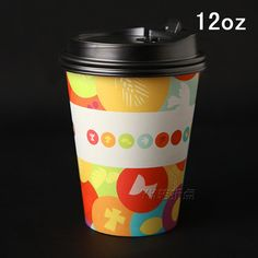 Decoracao invitaciones decoración 50 unids/lote 12 Oz taza de café de papel para…
