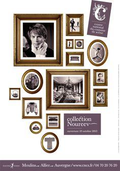 Ouverture de la Collection Noureev samedi 19 octobre 2013 au CNCS à Moulins ! Le Moulin, 2013, Gallery Wall, Graphic Design, Frame, Collection, Home Decor, Lounges, October 19