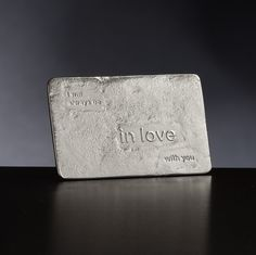 I will always be in love with you Pewter Keepsake card from Lancaster and Gibbings