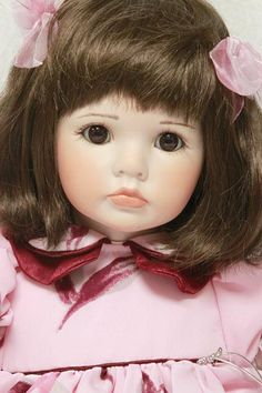 "Celia Dolls - Emma Rose 26"" Porcelain/Cloth Doll Limited Edition"