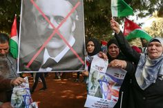 Protesters wave Palestinian flags and hold a defaced Arthur Balfour during a protest on the centenary of the Balfour Declaration outside the British Embassy in Beirut, Lebanon. (Nabil Mounzer / EPA) http://pow.photos/2017/lebanon-pow-2-8-november/
