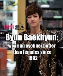 Baekhyun~~~Eyeliner
