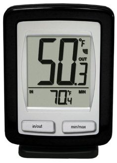La Crosse Technology WS-9009BK-IT-CBP Wireless Outdoor temperature station with Indoor thermometer, MIN/MAX records by La Crosse Technology. $16.88. Requires separate purchase of 2 AA and 2 AAA batteries; low battery icon for both LCD and remote transmitter. Wireless temperature station for indoor and outdoor readings; detachable base for free-standing or wall-hanging display. Outdoor sensor with 260-foot wireless range; measures outdoor temperatures from -19....