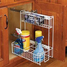 Pullout under sink organizer genius